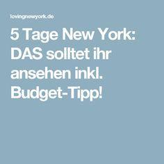 5 Tage New York: DAS solltet ihr ansehen inkl. Budget-Tipp!