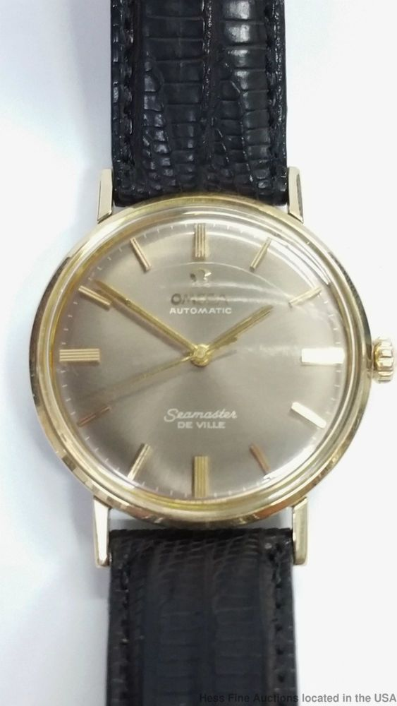 Omega Seamaster DeVille Gold Over Steel Original Tropical Dial Automatic Watch  #Omega