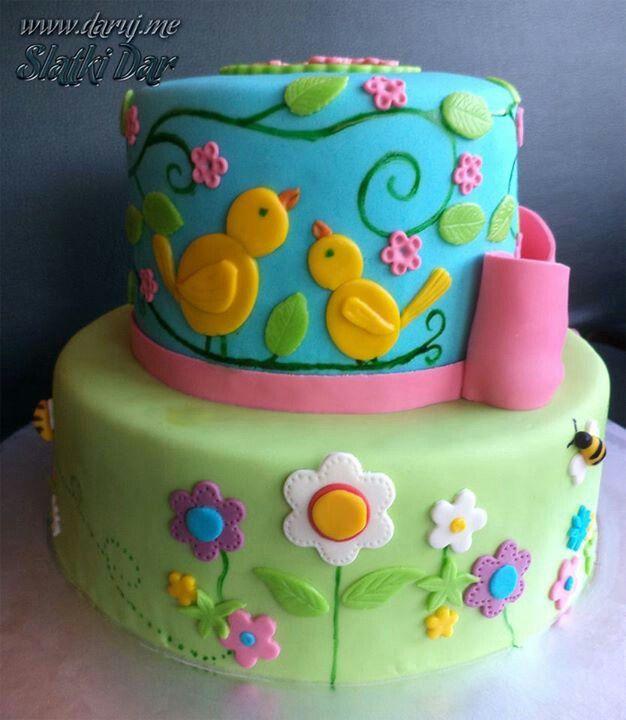 #cake #birthday Cake #spring Cake #chocolate Cake #birds