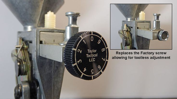 Dillon Precision Powder Thrower Adjustment Knob & Screw Assembly with Graduation #NicTaylor00