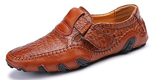 Mohem Men's Octopus Comfort Driving Car Soft Flats Loafers Casual Boat Shoes(16872988Brown110)