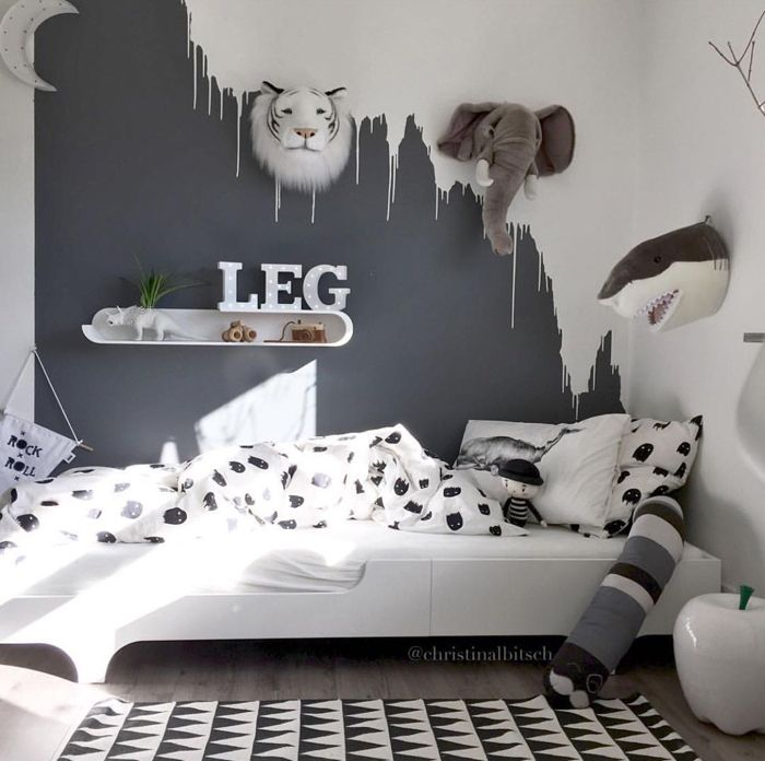 11 unique ways to use paint in your childrens room chalk kids blog - Metallic Kids Room Interior