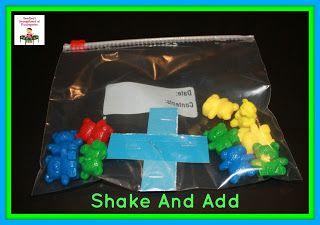 Smedley's Smorgasboard of Kindergarten: A Kindergarten Smorgasboard Shake And Add Math Center