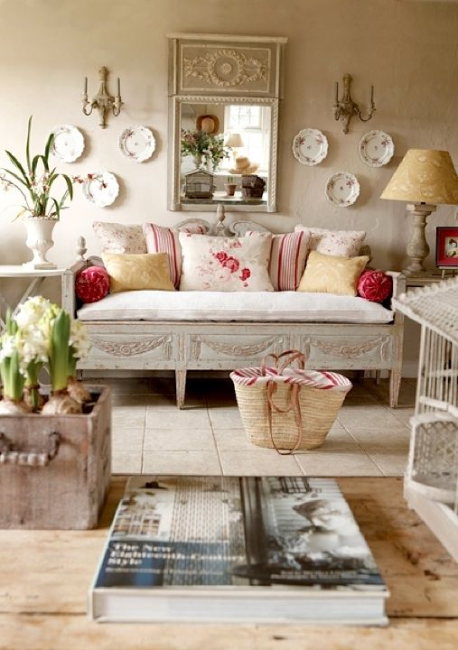 | ♕ | French country living | via pinterest
