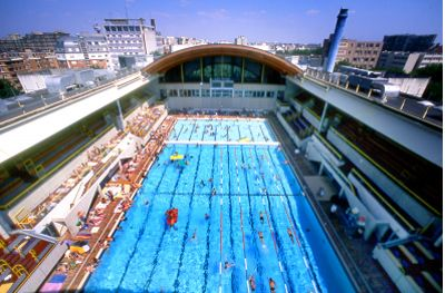 Here's a look at the 1924 Olympic swimming pool, Paris, France today, now called the Piscine Georges Vallerey