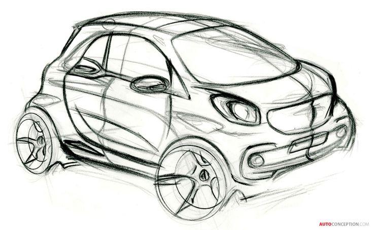 Smart Fortwo Exterior Design Sketch Car Sketch Pinterest
