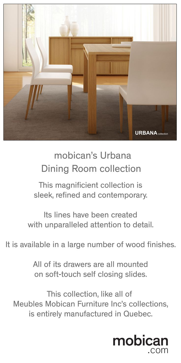 This gorgeous dining room collection from Meubles Mobican Furniture Inc will be shown next April at the High Point Market in North Carolina | Cette magnifique collection de salle à manger sera présentée au prochain salon du meuble à High Point en Caroline du Nord #HPMKT, #mobican, #furniture, #diningroom, #buffet, #chair, #chairs, #contemporary, #modern, #wood #madeincanada