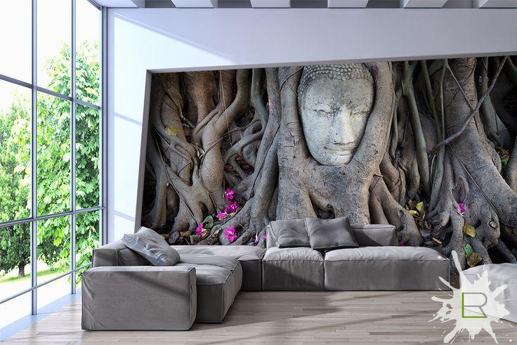 Ta niezwykła fototapeta przeniesie Cię do lasów Tajlandii. Doda wyrazistości i niezwykłego uroku wnętrzu. Polecamy do jasnych wnętrz, w których brakuje mocnego akcentu. Zobacz produkt http://lemonroom.pl/fototapeta-0-wyniki-wyszukiwania-46529612-Head-of-Sandstone-Buddha-in-The-Tree-Roots-at-Wat-Mahathat.html