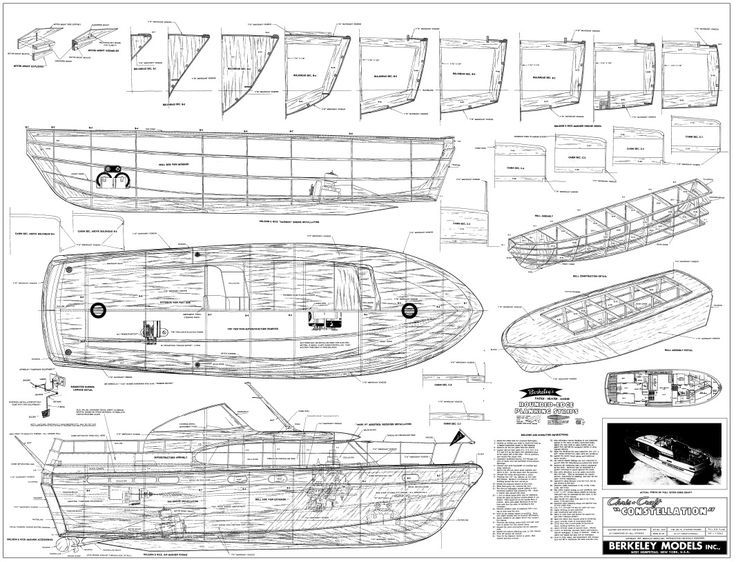 Chris Craft Constellation  Model Boat and Sailboat Plans  classic boat that ne