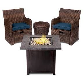 Halsted 5-Piece Wicker Small Space Patio Furniture Set - Threshold™ : Target