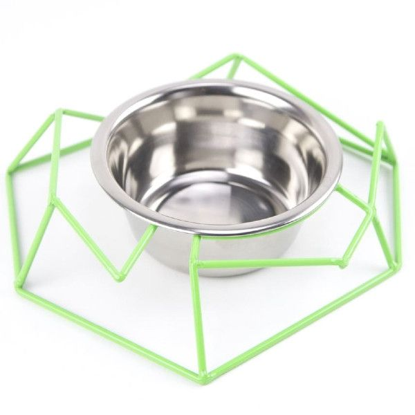 Chamfer Steel Wire Diner from GO! Pet Design - Dog Milk