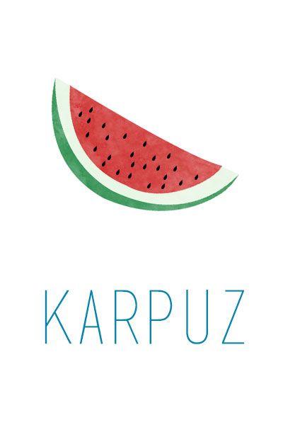Karpuz İllustrasyonu- Watermelon Illustration