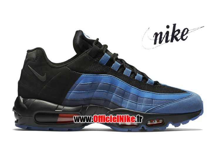 "Homme Chaussures Nike Air Max 95 LJ QS ""Lebron Game Time"" Bleu côtier/Bleu court/Noir 822829-444"