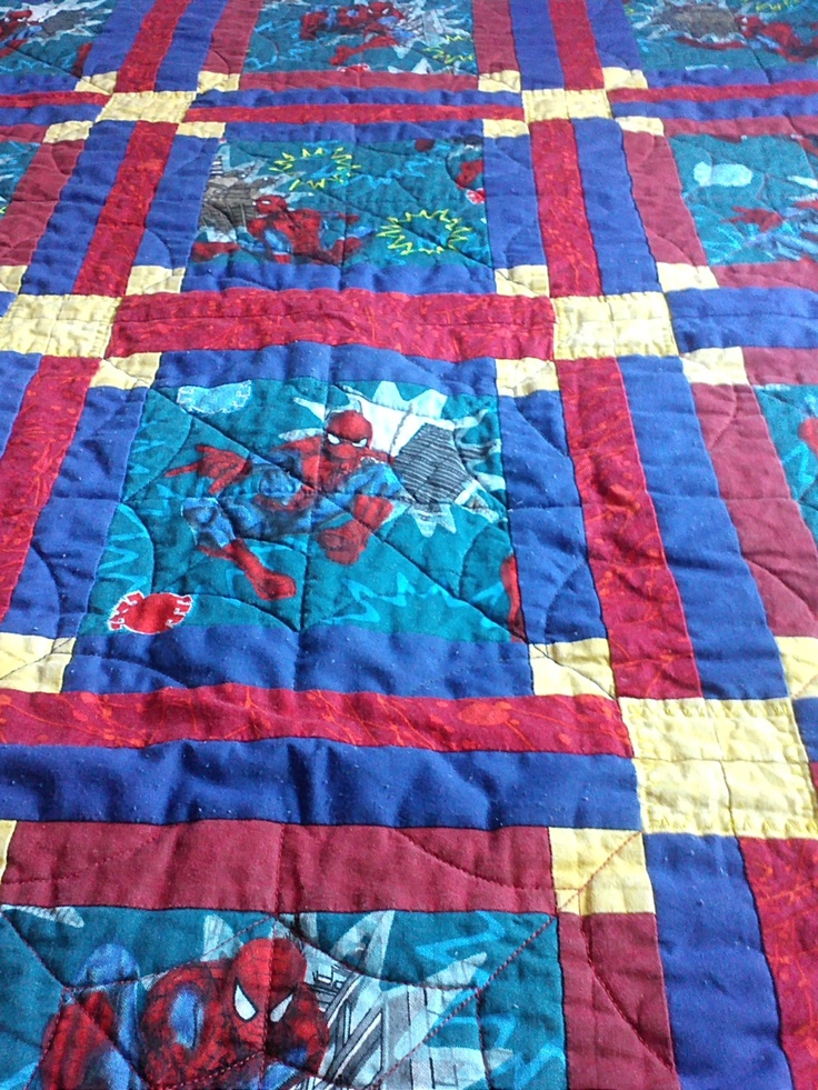82 Best Spiderman Quilts Images On Pinterest Spiderman