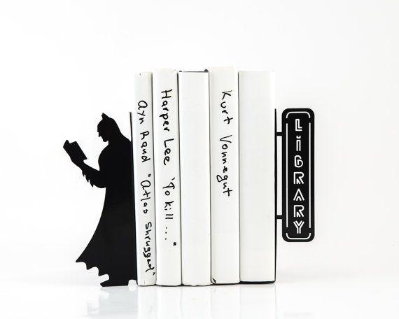 Batman Bookends Bookshelf Nursery Theme Kids Room Decor Free Shipping Worldwide Comics