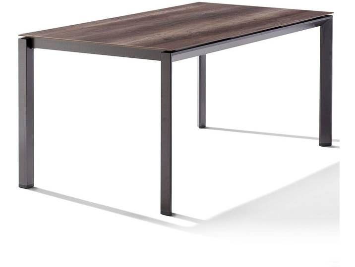 Sieger Gartentisch 160x90cm Aluminium Polytec Hpl Eisengrau Eiche