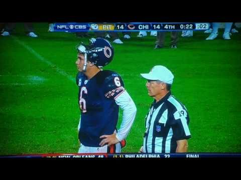 For the sake of my fantasy football team, I hope Jay Cutler can avoid defenses better than this referee.