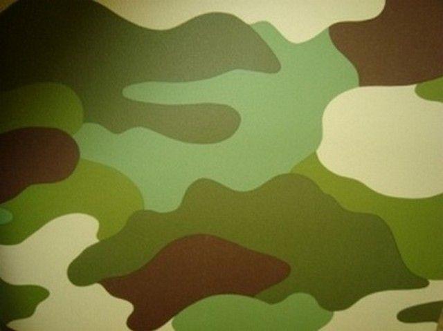 legerprint camouflage stoer jongens behang 64