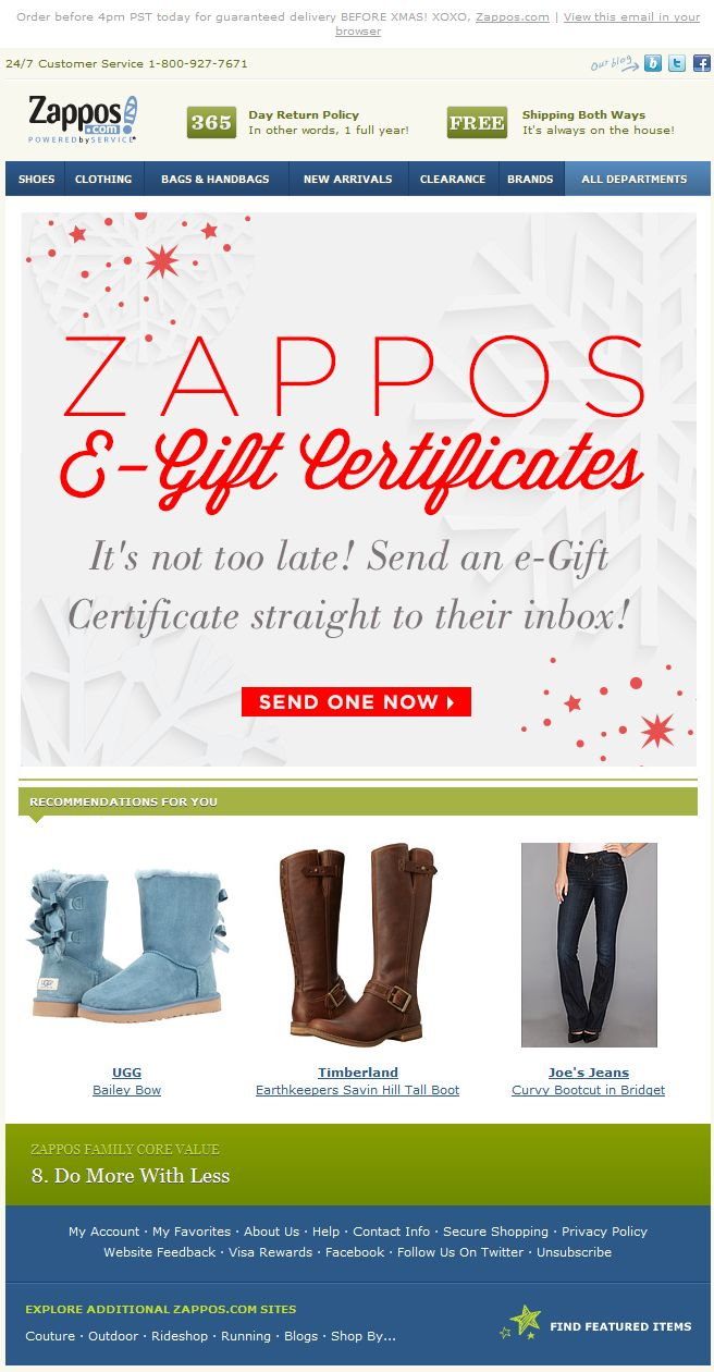 best images about winter holiday emails zappos holiday e gift certificates for last minute gifts