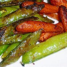 Stir Fried Garlic Snow Peas