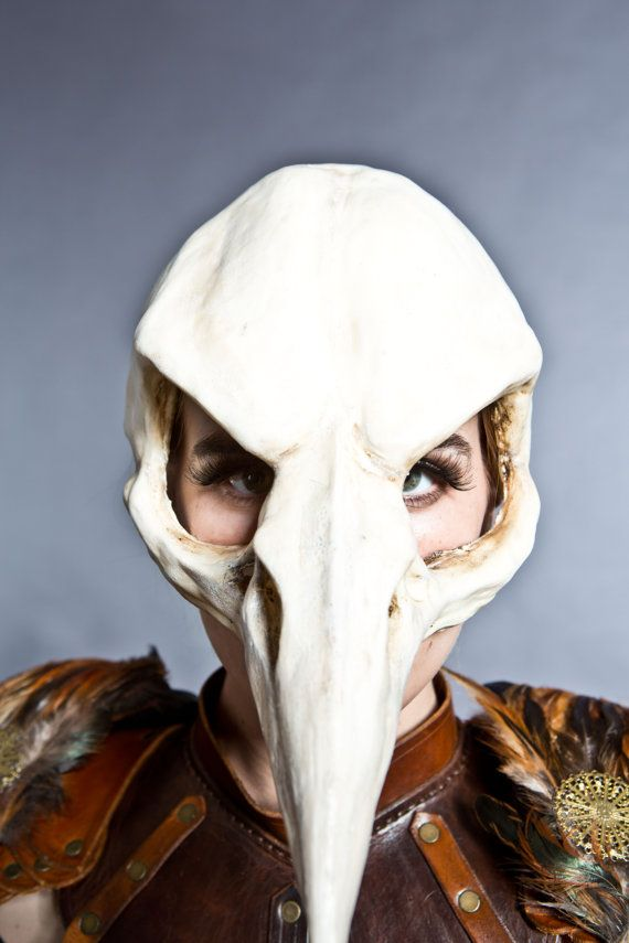 Bird skull mask in Bone finish by HighNoonCreations on Etsy