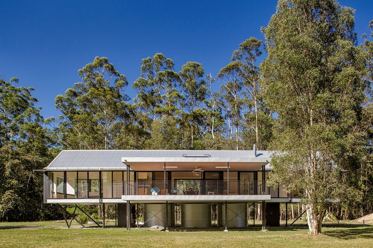 COLORBOND® Award for Steel Architecture Commendation – Platypus Bend House by Robinson Architects. Photo by Alain Bouvier.