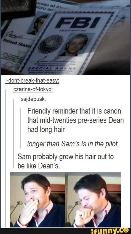 Even hair turns angsty in this fandom.