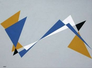 Composizione orizzontale by Gualtiero Nativi, 1948, 31 x 43.5 cm | FerrarinArte