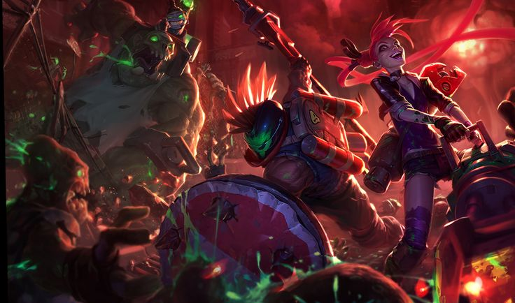 Slayer Pantheon Slayer Jinx and Zombie Nunu October Skins Splash art