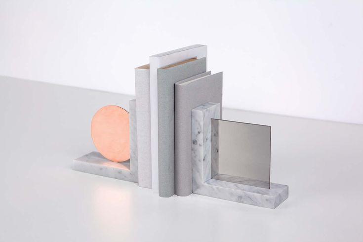 MOON Bookends - joa-herrenknecht.com  interior  Pinterest  도자기 및 디자인