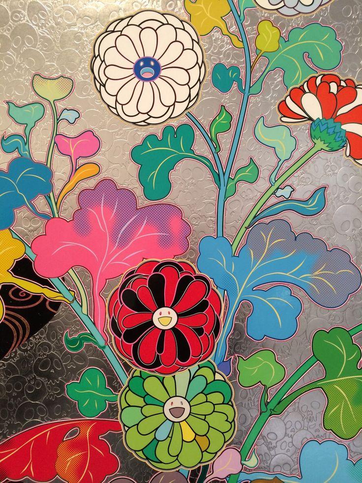Murakami Mylar wall cover : wallpaper : modern psychedelic ...