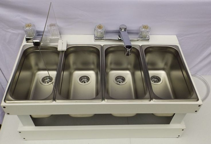 Portable Sink Mobile Concession 3-Compartment with hand wash sink SMW | Business & Industrial, Restaurant & Catering, Commercial Kitchen Equipment | eBay!
