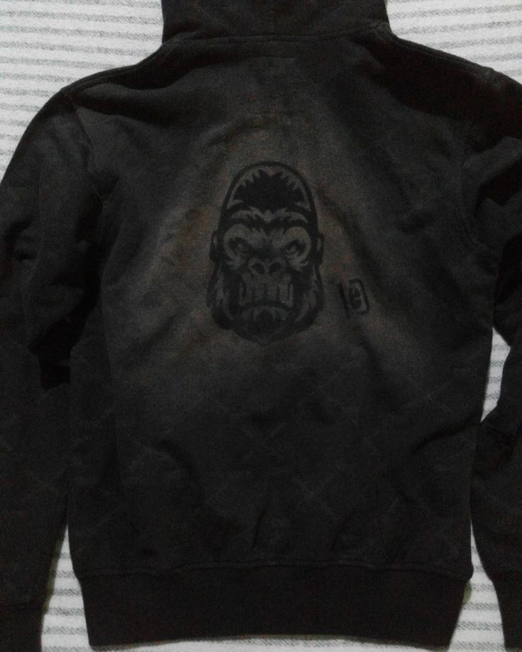 gorilla #DIY #spray #onback #jacket