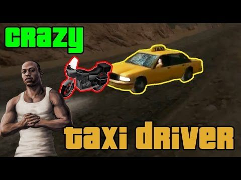 GTA:SA - Crazy taxi driver stole a bike