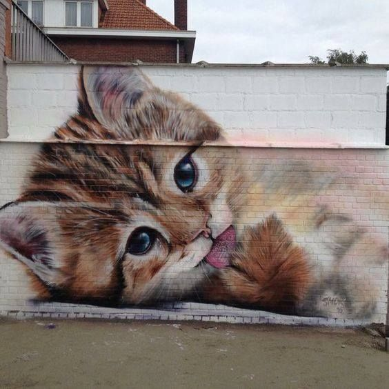 kitty mural street art