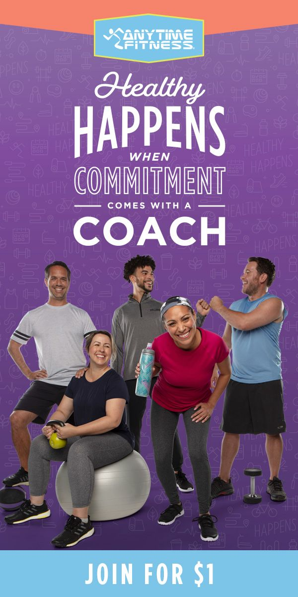 Join Anytime Fitness For 1 Get A Free Jump Start Training Package Anytime Fitness Get Fit Exercise