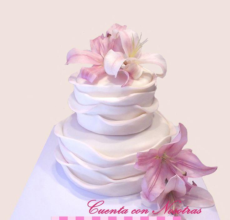 Torta de Novios Torta lilium Torta con flores naturales