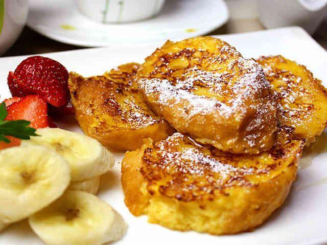 簡単♪フレンチトースト☆フランスパンで♪の画像