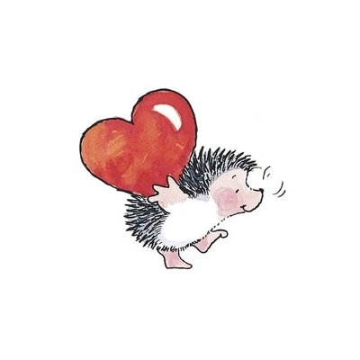 Penny Black Rubber Stamps Hedgehog Heart Weight of Love Stamp | eBay