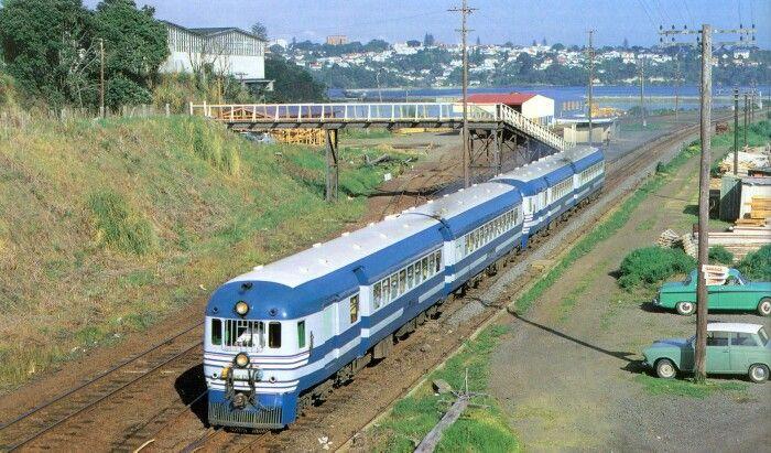 New Zealand Railways Fiat Railcars in BlueStreak Livery 1972