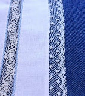 Creations By Michie` Blog: Lace Edging to Fabric