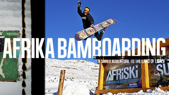 Afrikabamboardin! A Snowboard Journey To Africa by Snowboarder Magazine. This past August Scott Stevens, Nick Visconti, and Stevie Bell traveled to Lesotho Africa to a small ski area called Afriski to experience snowboarding on the African continent. The trip was an adventure of a lifetime and the full story can be found in our new Rider Of The Year issue on newsstands now. Here's the video from the trip we hope you enjoy.