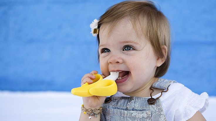 Baby Teething Teether Toothbrush Silicone Training Infant Toddler Toys ONE