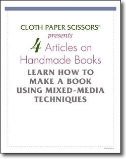 4 Free Articles on Handmade Books: Learn How to Make a Book Using Mixed-Media Techniques: Make A Book, Mixed Media Techniques, Book Art, Scissors Ebooks, Free Ebook, Paper Scissors, Handmade Books