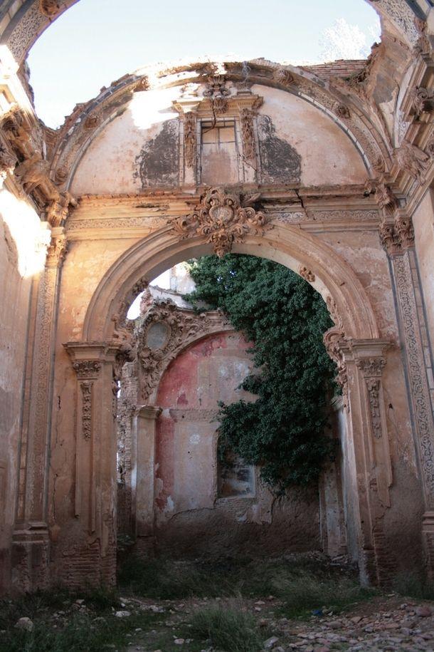 Ruins in Belchite Spain Victim of the Spanish Civil War
