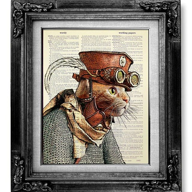 Hey stranger! #steampunkart #art #drawing #traveller #cat #awesome #steampunkstyle #steampunk