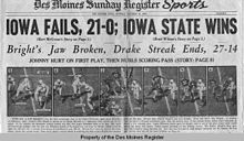 The Johnny Bright Incident was a violent on-field assault against African-American player Johnny Bright by White American player Wilbanks Smith during an American college football game held on October 20, 1951 in Stillwater, Oklahoma.