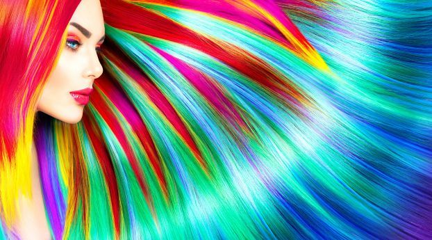 Rainbow Colorful Girl Hairs Wallpaper Hd Abstract 4k Wallpapers Images Photos And Background Colorful Girl Abstract Wallpaper Abstract