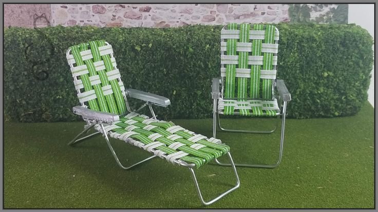 Miniature Folding Lawn Chair Tutorial, How To Make Miniature Outdoor Furniture