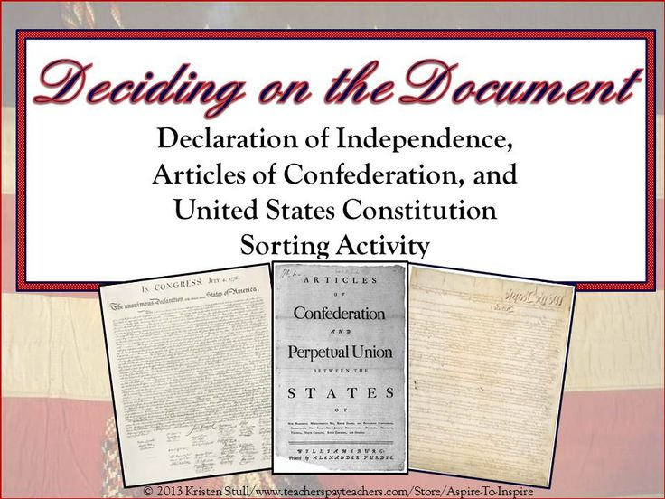 the importance of the documents of the articles of confederation and the us constitution A comparison of the articles of confederation and the constitution constitution the two important documents the articles of confederation and the us.